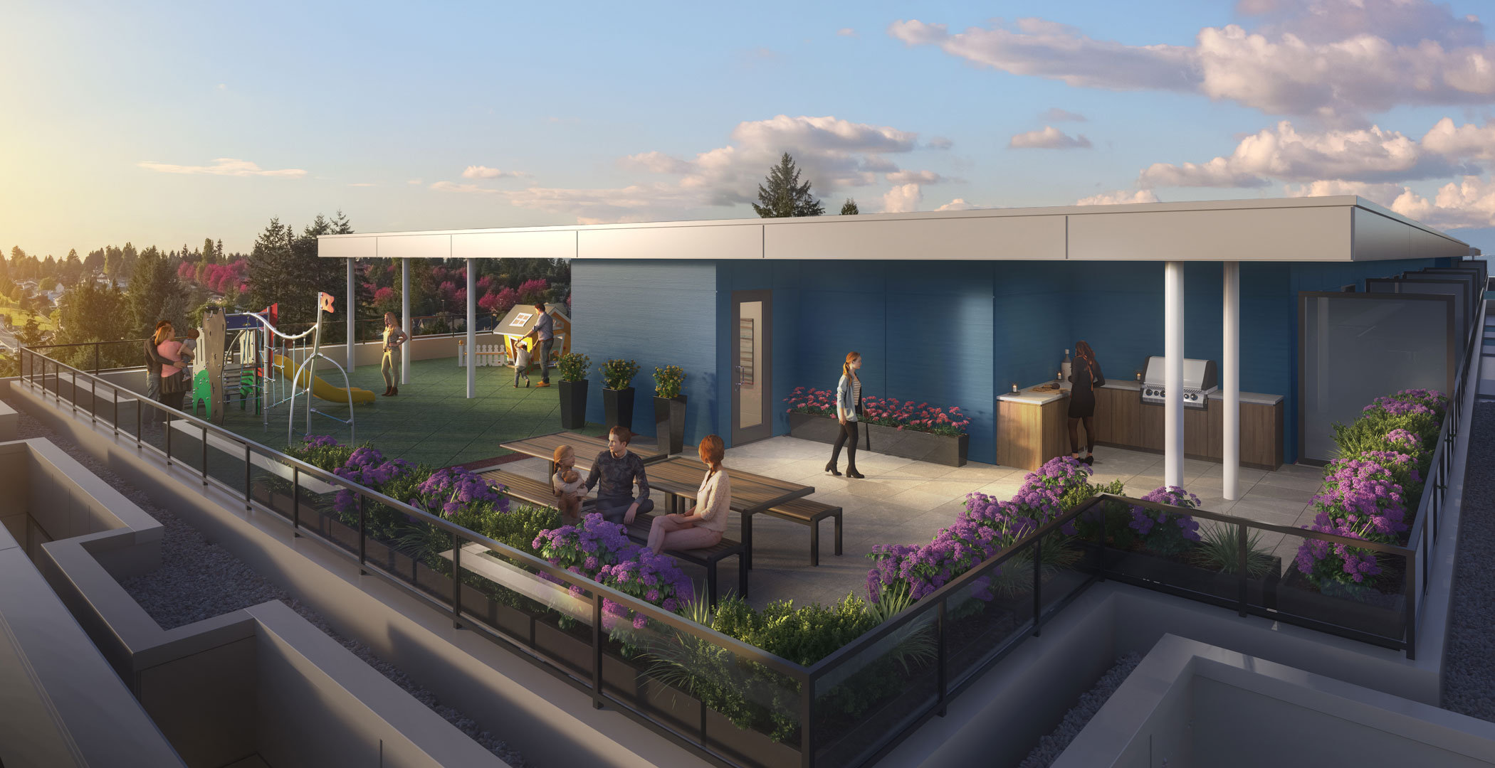 Rooftop Amenity Space - 14468 72 Ave, Surrey, BCV0V 0V0, Canada!