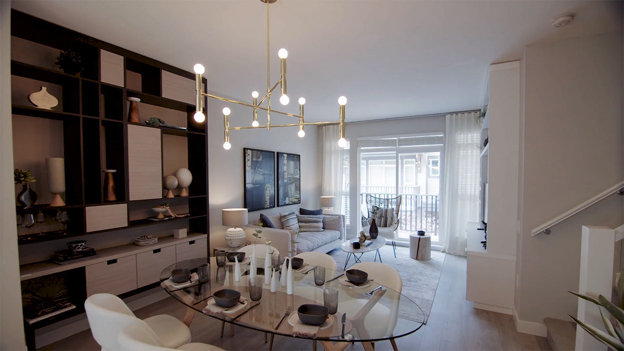 Dining & Living Area - 4991 No 5 Rd, Richmond, BC V6X 0S9, Canada!