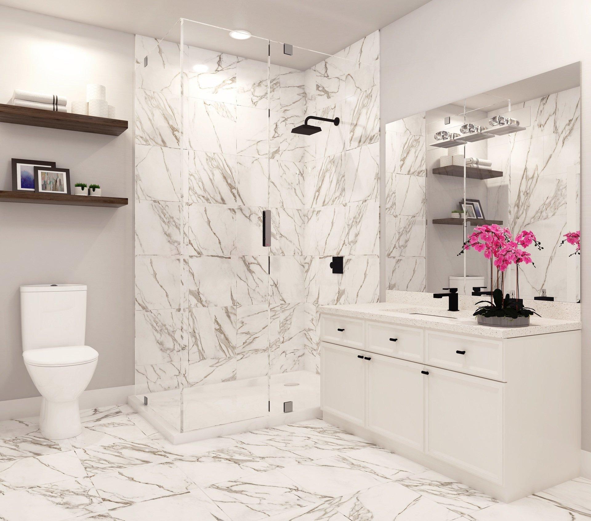 Bathroom - 19624 56 Ave Langley City, BC V3A 3X6 Canada!