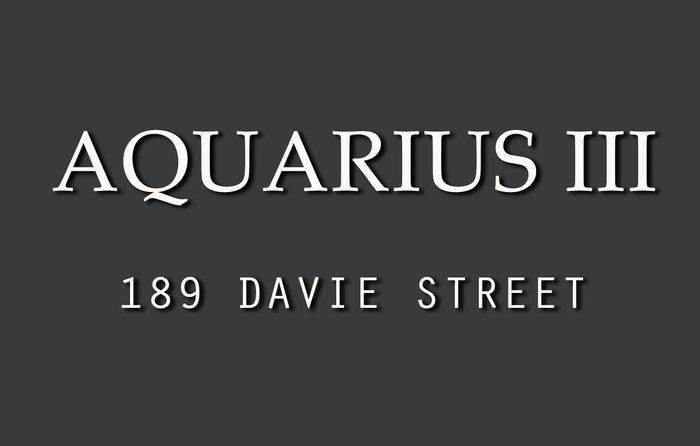 Aquarius III 189 DAVIE V6Z 2X9