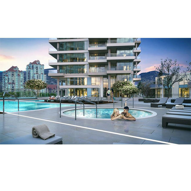 One Water Street - 1187 Sunset Drive Kelowna - display pool area!