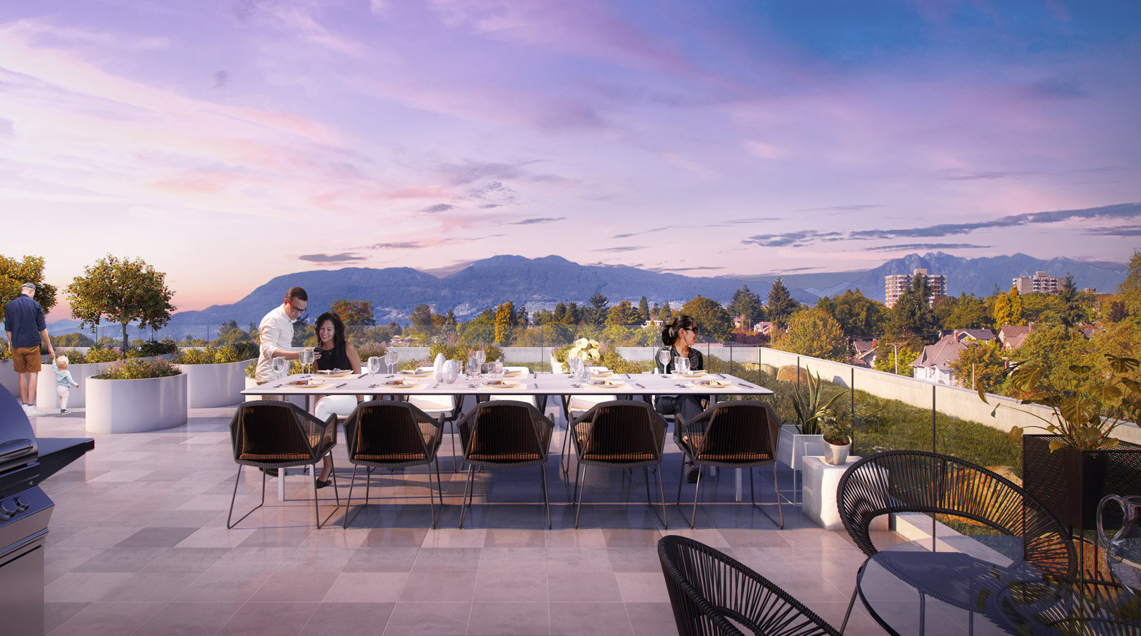 Rooftop Terrace - 2485 Larch St, Vancouver West, BC V6R 2B1, Canada!