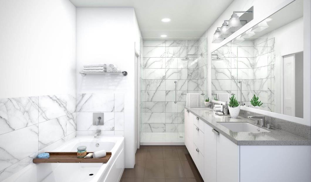 Ellis Parc - 1232 Ellis Street, Kelowna - Display Bathroom!