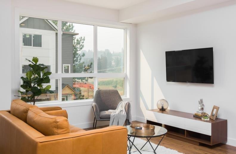 Oceola Landing - 12075 Oceola Road, Lake Country - Showhome - Living Room!