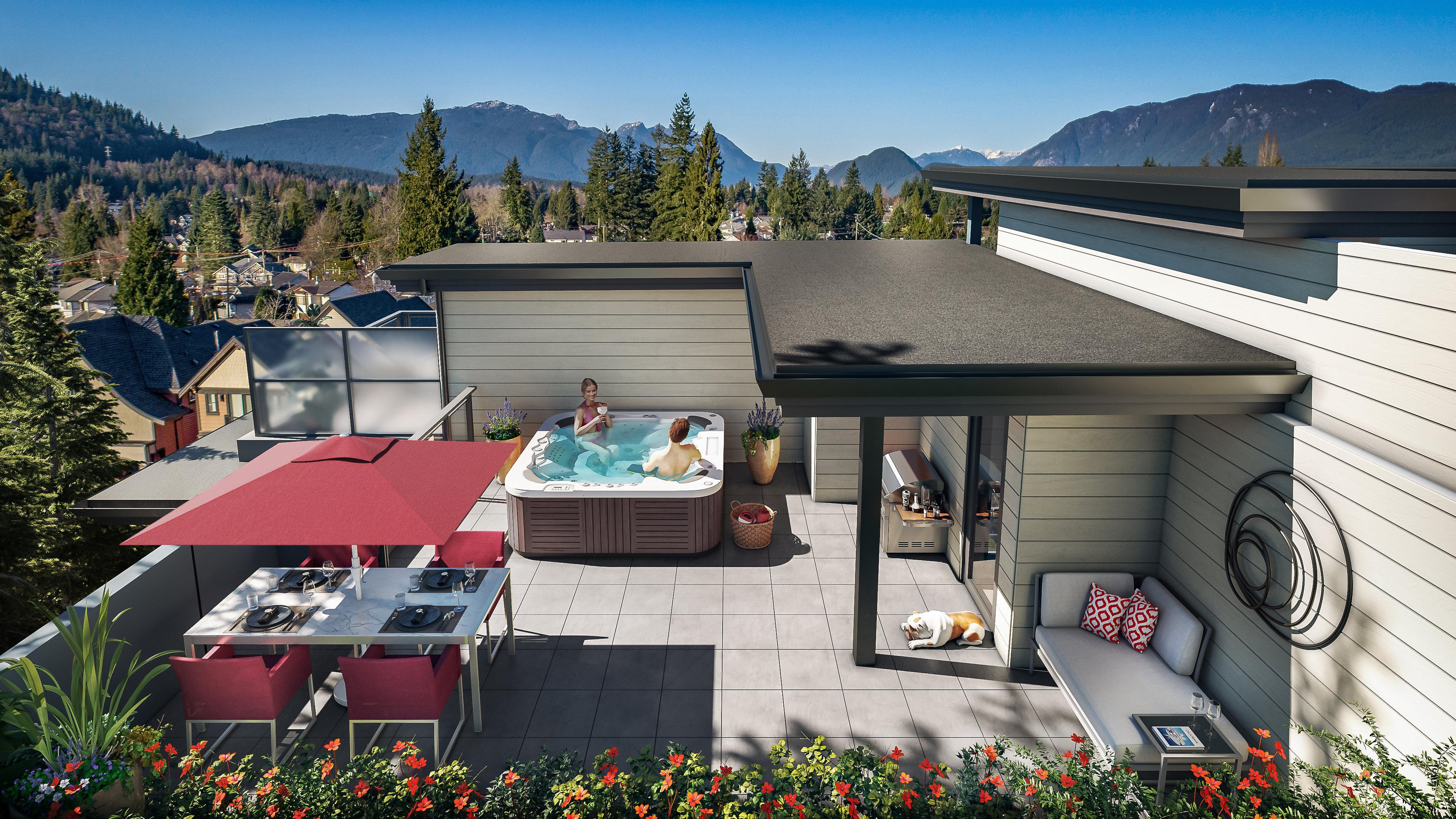 Rooftop - 707 Como Lake Ave, Coquitlam, BC V3J 0E8, Canada!