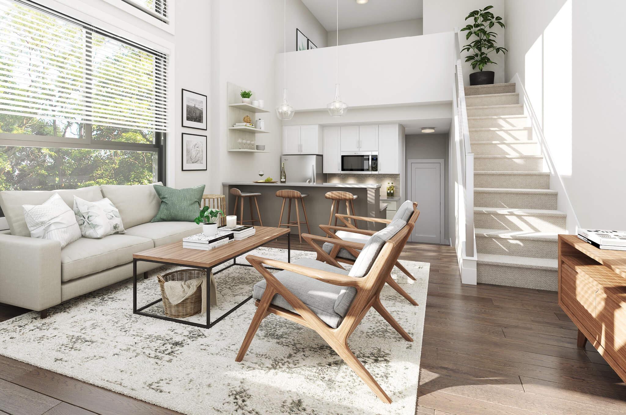Living Area - 32838 Ventura Ave, Abbotsford, BC V2S 6J3, Canada!