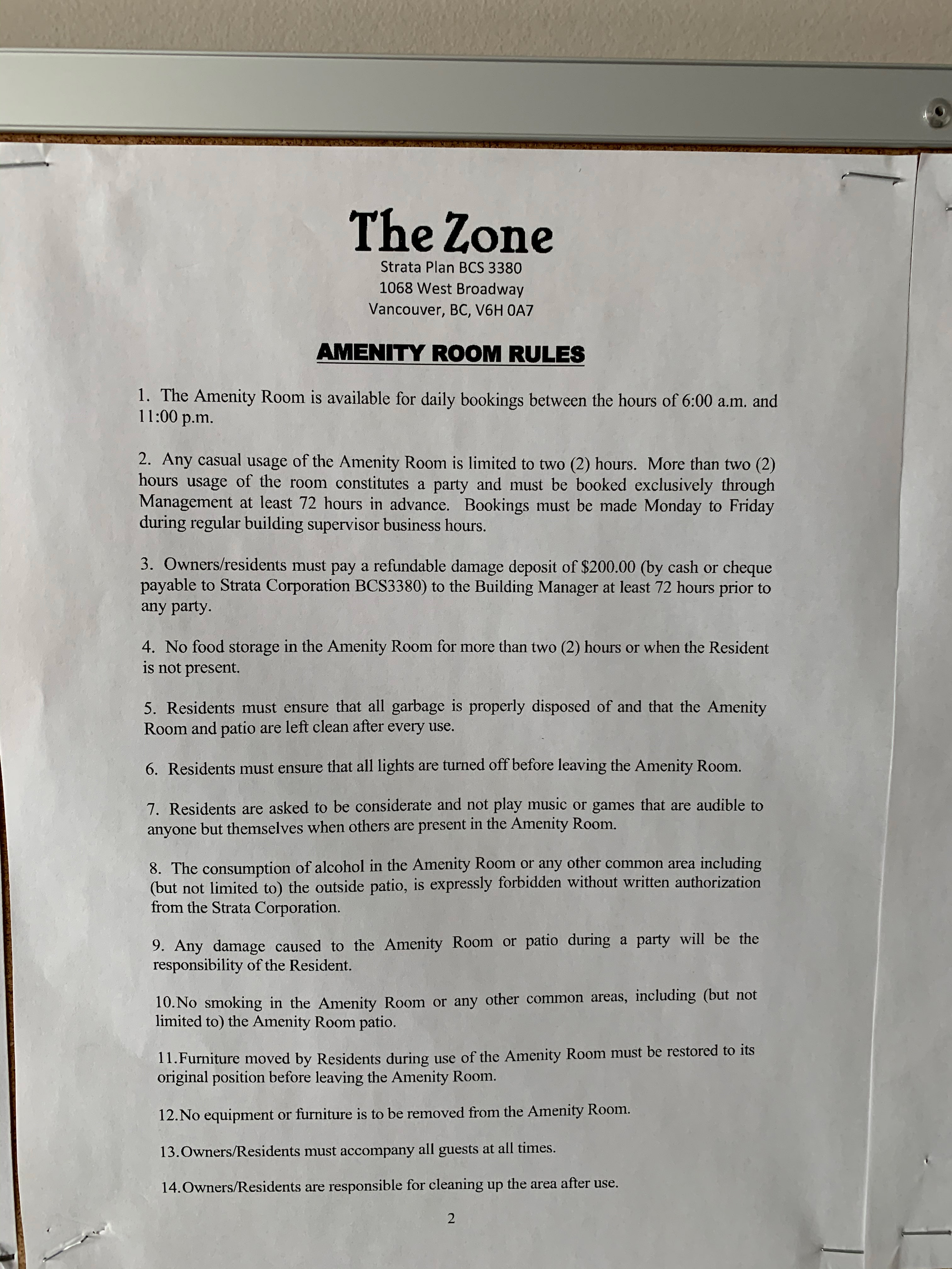 The Zone 1068 Broadway Notice!