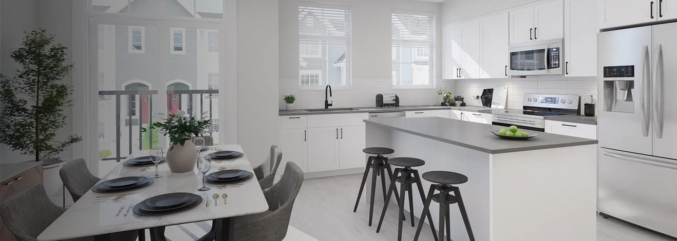 Dining & Kitchen Area - Latimer Heights - Terraced Townhomes!