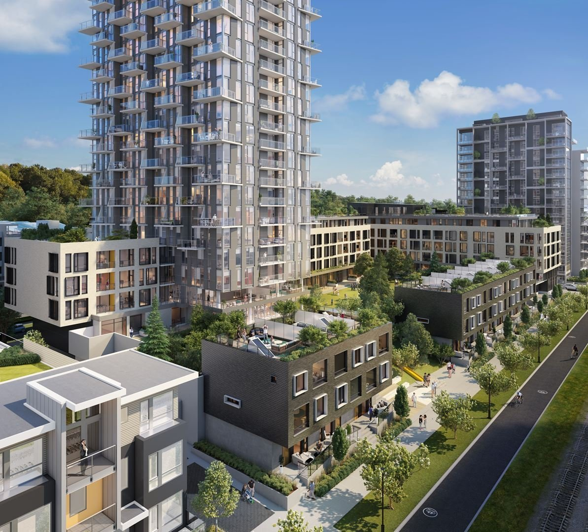 Avalon 3 in River District Vancouver, Rendering!