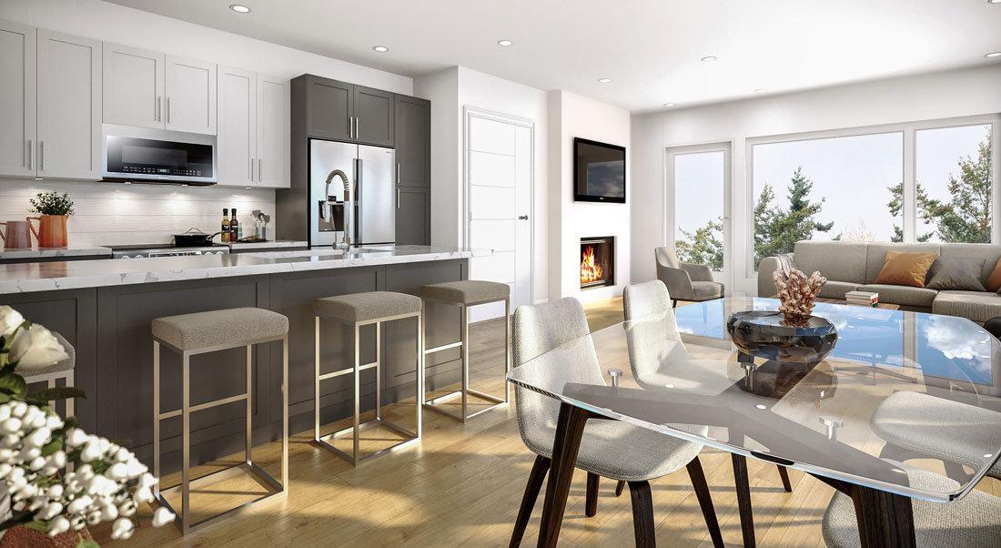 The Bevan - 2526 Bevan Ave - Rendering: living, kitchen, living!