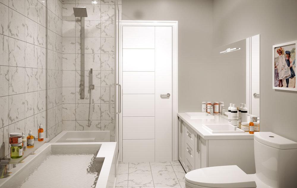 The Bevan - 2526 Bevan Ave - Rendering: Bathroom!