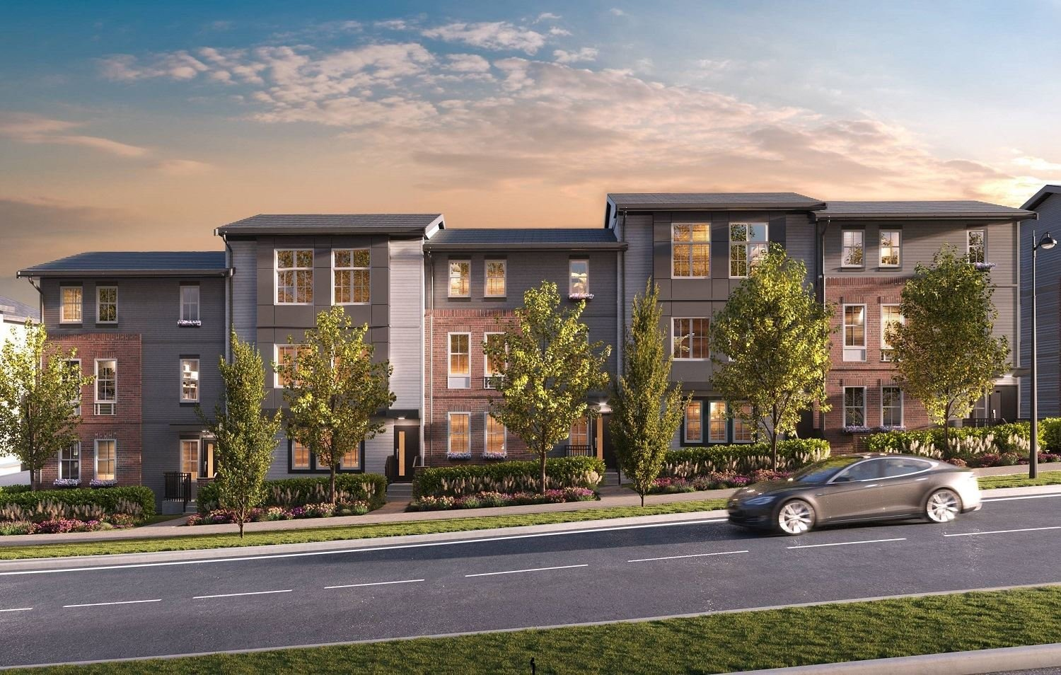 Parallel Townhomes Rendering!