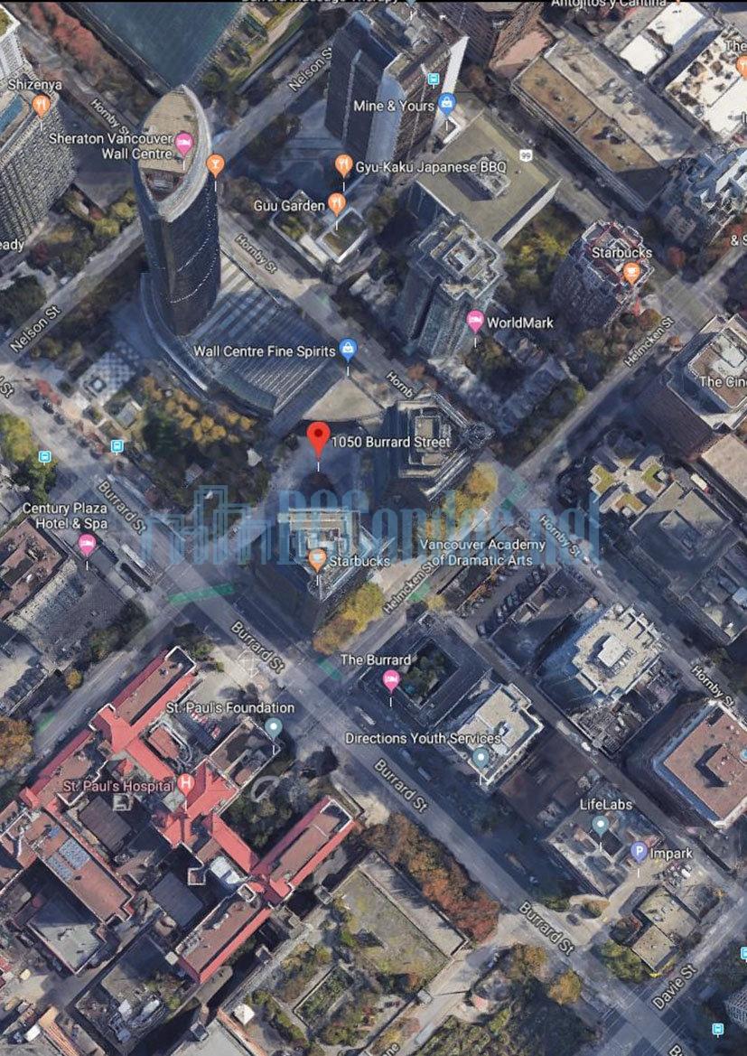 Wall Centre 1050 Burrard Street Vancouver 6717000 Com
