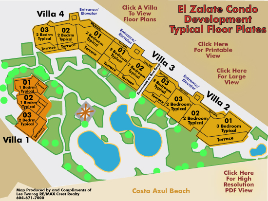 El Zalate Condo Layout