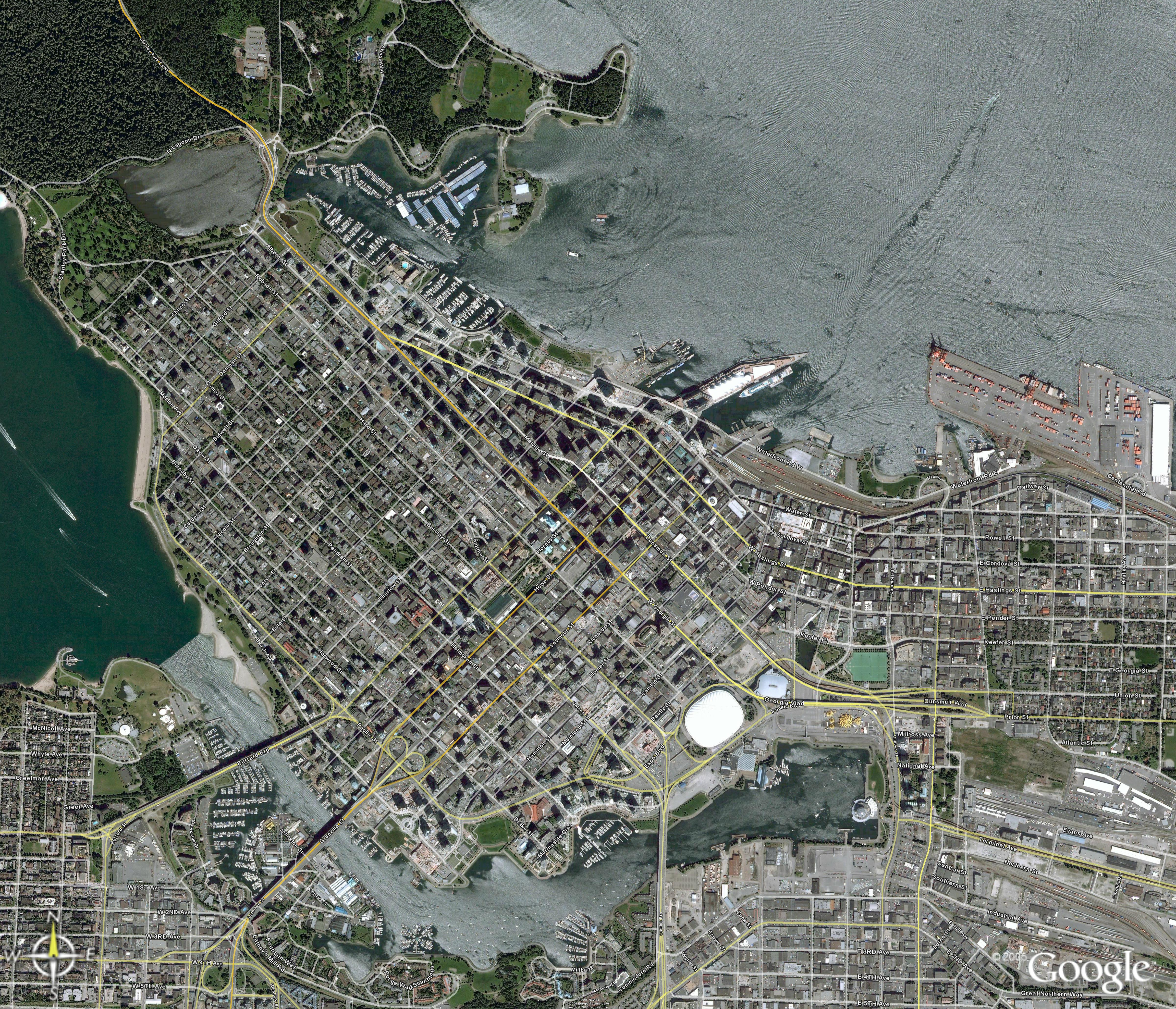 Sauder school of business map - Satelite View Of Downtown Vancouver 4 86 Mb
