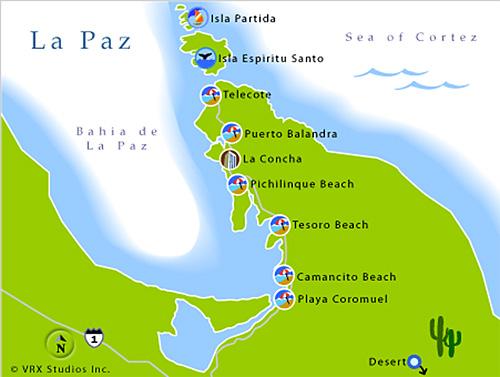 El Cerrito Mexico - la paz map