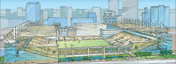 Main Image for Proposed Central Waterfront Hub and White Caps Stadium, 550 West Cordova