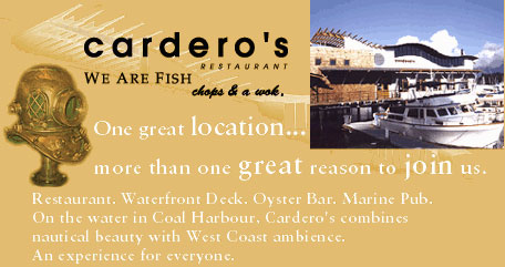 Carderos Restaurant, 1583 Coal Harbour Quay, BC