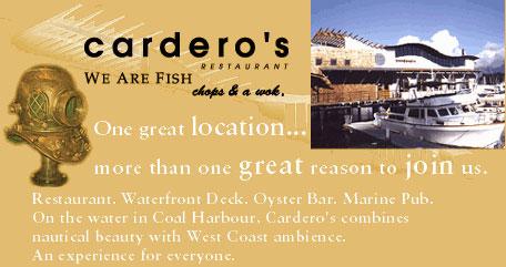 Carderos Restaurant, 1583 Coal Harbour Quay, BC