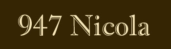 947 Nicola, 947 Nicola, BC