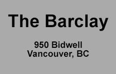 The Barclay, 950 Bidwell, BC