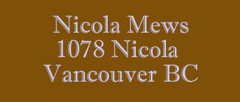 Nicola Mews, 1078 Nicola Street, BC