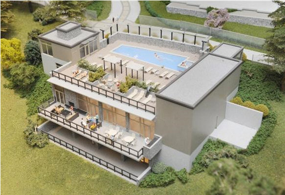 Edgewater - Clubhouse & Roof top pool !