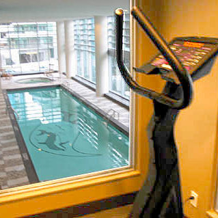 Swimming Pool Viewed From Gym!