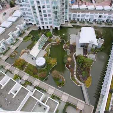 Looking Down To Courtyard!