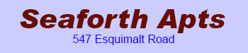 Seaforth Apts 547 Esquimalt V9A 3L3