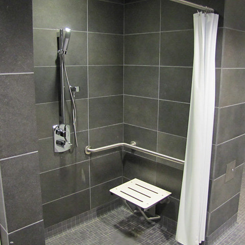 Private Shower Stall!