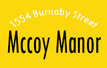 Mccoy Manor 1554 BURNABY V6G 1W9
