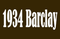 1934 Barclay 1934 BARCLAY V6G 1L3