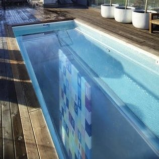 Glass Bottom Swimming Pool On Roof!