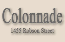 The Colonnade 1455 ROBSON V6G 1C1