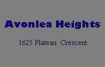 Avonlea Heights 1625 Plateau V3E 3B3