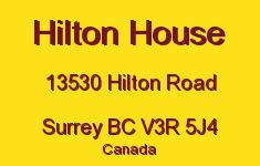 Hilton House 13530 HILTON V3R 5J4