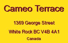 Cameo Terrace 1369 GEORGE V4B 4A1