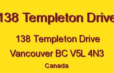 138 Templeton Drive 138 TEMPLETON V5L 4N3