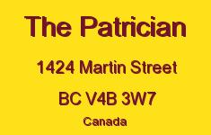 The Patrician 1424 MARTIN V4B 3W7