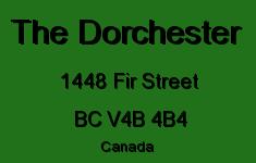 The Dorchester 1448 FIR V4B 4B4