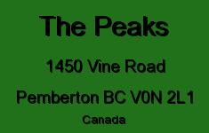 The Peaks 1450 VINE V0N 2L1
