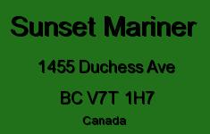 Sunset Mariner 1455 DUCHESS V7T 1H7