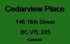 Cedarview Place 146 18TH V7L 2X5
