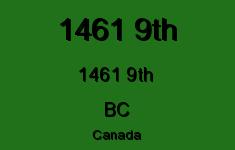 1461 9th 1461 9TH V0B 1M0