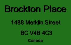 Brockton Place 1488 MERKLIN V4B 4C3