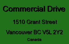 Commercial Drive 1510 GRANT V5L 2Y2