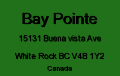 Bay Pointe 15131 BUENA VISTA V4B 1Y2