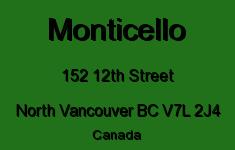 Monticello 152 12TH V7L 2J4
