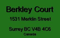 Berkley Court 1531 MERKLIN V4B 4C6